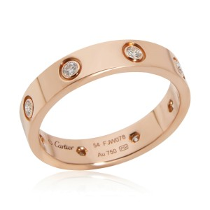 Cartier Love Diamond Band in 18K Pink Gold 0.19 CTW