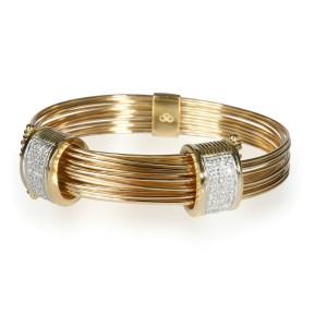 Links of London Diamond Multi Strand Wire Bracelet in 18K Yellow Gold 0.84 CTW