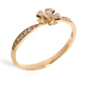 Diamond Flower Ring in 14K Yellow Gold 0.26ctw