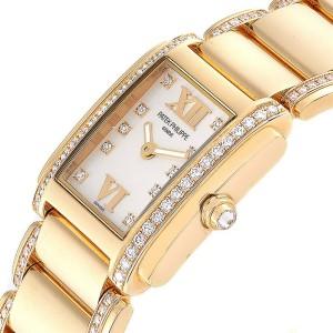 Patek Philippe Twenty-4 Small 18K Rose Gold Diamond Ladies Watch 4908