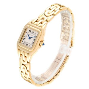 Cartier Panthere 18k Yellow Gold Art Deco Bracelet Ladies Watch 107000