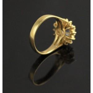 14K Yellow Gold 0.65ct. Tanzanite 0.47ct. Diamond Dia Solid Ring