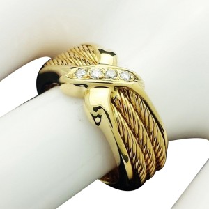Philippe Charriol 18K Yellow Gold Diamond Ring