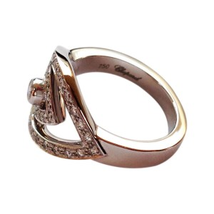 Chopard 18K White Gold & Diamond Eye Ring