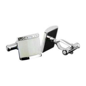 Montblanc Sterling Silver & White Onyx Cufflinks