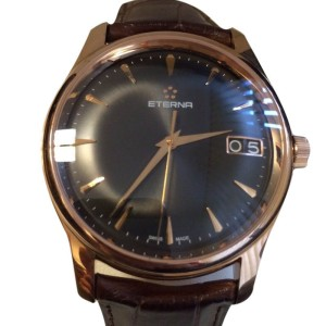 Eterna Vaughan Big Date 18K Rose Gold Automatic 42mm Watch