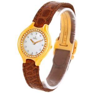 Ebel Beluga Ladies Yellow Gold Mother of Pearl Diamond Watch 866940