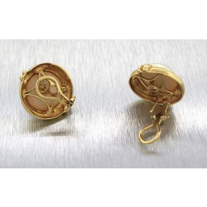 Tiffany & Co. 18K Yellow Gold Pearl Clip-On Earrings