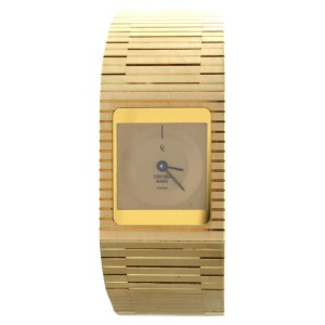 Concord 50.76.655 18k Yellow Gold 71.3g  Vintage Retro 20mm Quartz Watch
