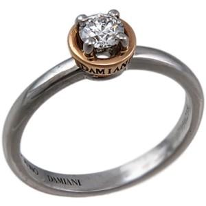 Damiani Platinum and Rose Gold Diamond Ring