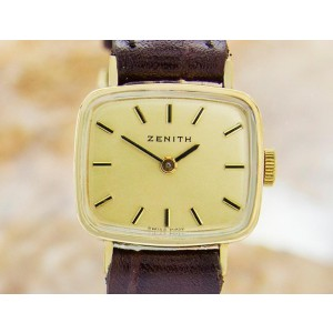 Zenith Swiss Made Mechanical Gold Plated Vintage 1960s Watch