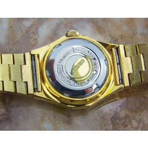Orient Gold Plated Stainless Steel Automatic Vintage Womens Watch Year: 1970