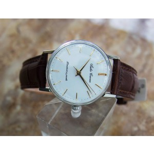 Seiko Cronos Stainless Steel & Leather 33mm Watch