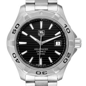 Tag Heuer Aquaracer Black Dial Automatic Steel Mens Watch WAY2110 Box