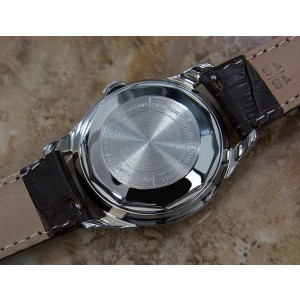 Mido Multifort Stainless Steel & Leather Automatic 35mm Mens Watch 1960s