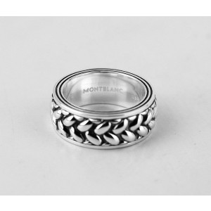 Montblanc Silver Womens Ring Size 12