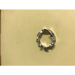 Cartier 18k White Gold With Diamonds Limited Edition Signature Ring Size 5.5