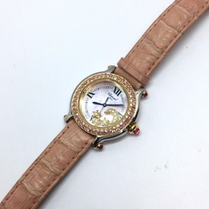 Chopard Happy Sport 18K Yellow Gold / Stainless Steel Womens Watch