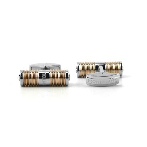 MONTBLANC THE LEAGUE CUFFLINKS ROSE GOLD PVD DIAMOND NEW GERMANY 109797 BOX