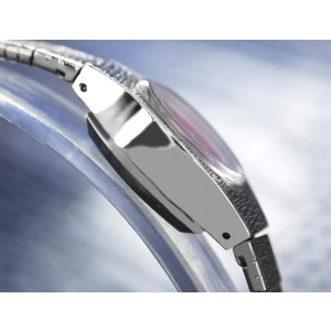 Bulova Stainless Steel Swiss Made Mechanical 17mm Womens Dress Watch 1960s