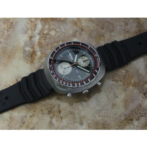 Seiko UFO Stainless Steel & Rubber Automatic 44mm Mens Watch 1970