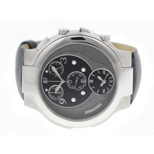 Philip Stein Dual Time 9-CRB3-CB 45mm Mens Watch