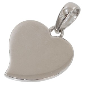 Bulgari 18K White Gold Heart Design Charm Pendant