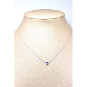 Tiffany & Co. Elsa Peretti Color by the Yard Platinum Sapphire Necklace