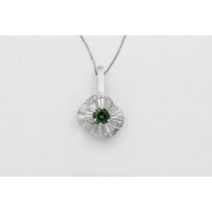 Platinum Tourmaline, Diamond Pendant