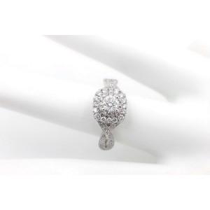 Neil Lane Diamond Engagement Ring Round 3/4 TCW Double Halo Twist 14K White Gold