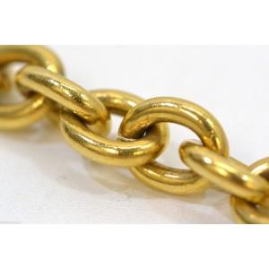 Chanel Vintage CC Logo Gold Tone Hardware Charms Bracelet