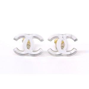 Chanel CC Coco Mark Plastic Earrings