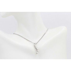Leo Journey Diamond Necklace Pendant 0.61 tcw set in 14k White Gold