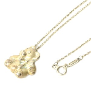 Tiffany & Co. 925 Sterling Silver Bear Pendant Necklace