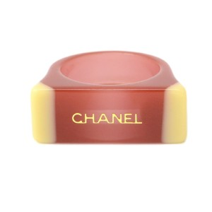 Chanel CC Coco Mark Plastic Logo Ring Size 7