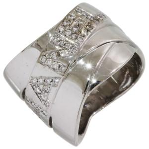 Chanel 18K White Gold Diamond Ring Size 4