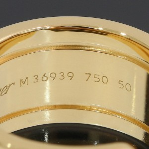 Cartier Double C 18K Yellow Gold Ring Size 5.5