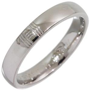 Hermes 18K White Gold Ring Size 3.5