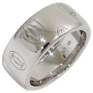 Cartier Happy 18K White Gold Wedding Ring Size 5.5