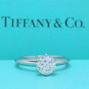 Tiffany & Co. Platinum 1.07ct. Diamond Engagement Ring Size 5.5