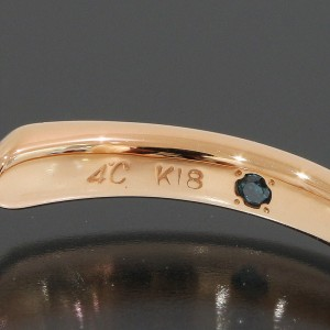 18K Rose Gold Diamond Ring Size 4.25
