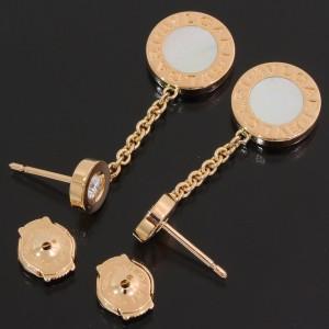 Bvlgari Bulgari 18K Rose Gold Diamond Earrings