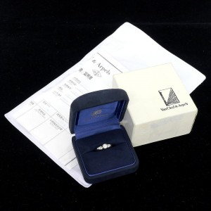 Van Cleef & Arpels Diamond Platinum Diamond Ring Size 5.75