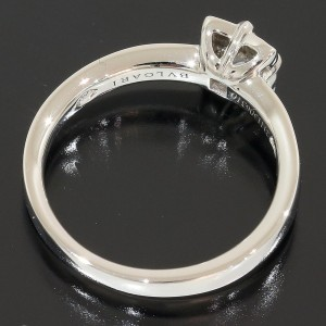 Bulgari Dedicata Platinum Diamond Ring Size 4.25