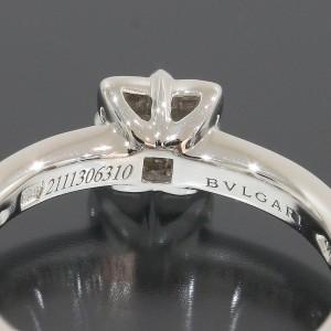 Bulgari Dedicata Platinum Diamond Ring Size 4.25