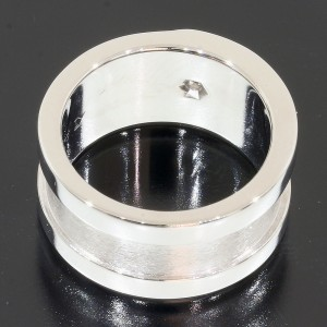 Cartier Diamond 18K White Gold Diamond Ring Size 4.5