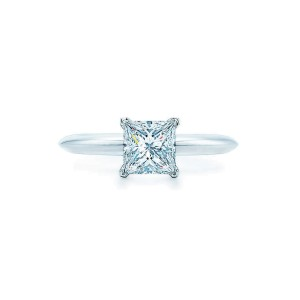 Tiffany & Co. 950 Platinum 0.71ct Diamond Engagement Ring Size 5.5