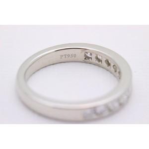 Tiffany & Co. 950 Platinum 0.24ctw. Diamond Wedding Ring Size 5.5
