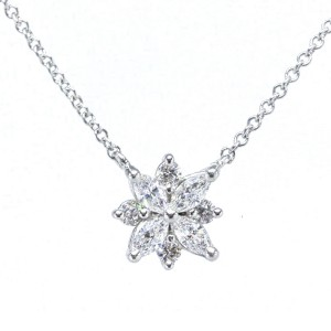 Tiffany & Co. Victoria 950 Platinum 0.34tcw. Diamond Pendant Necklace