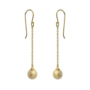 14k Yellow Gold Akoya Cultured Pearl Earrings